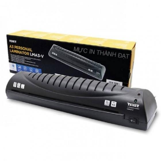 Máy ép nhựa tự động A4 TEXET LMA4-V +25  - Tặng 25 tờ màn ép A4 Texet