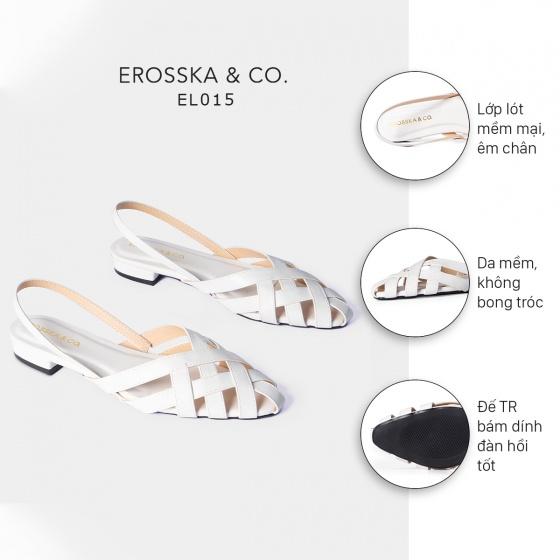 Giày cao gót thời trang Erosska mũi nhọn quai đan kiểu dáng basic cao 1cm EL015