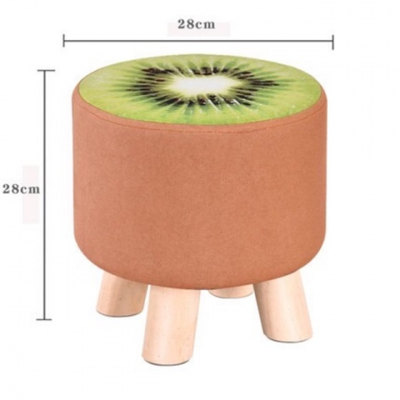 Ghế đôn hoa quả chân gỗ kiwi chín