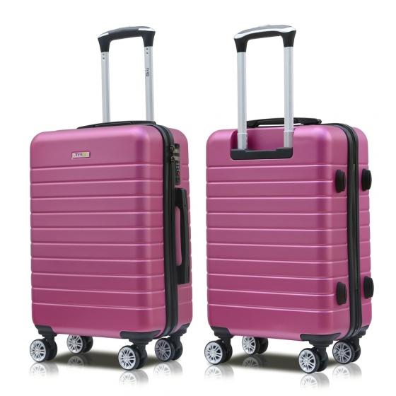 Set 2 vali nhựa Trip PC911 size 50cm+60cm tím hồng (tặng 2 gối cổ)