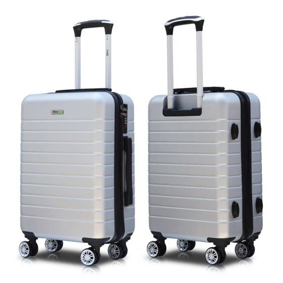 Vali chính hãng Trip PC911 size 60cm 24 inch xám bạc (tặng gối cổ)