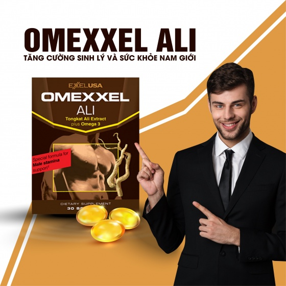 Combo 2 hộp viên uống tăng cường sinh lý nam Omexxel Ali (60 viên) - xuất xứ Mỹ