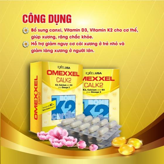 Bộ viên uống ngăn ngừa thoái hóa khớp, bổ sung canxi Omexxel Arthri và Omexxel Calk2