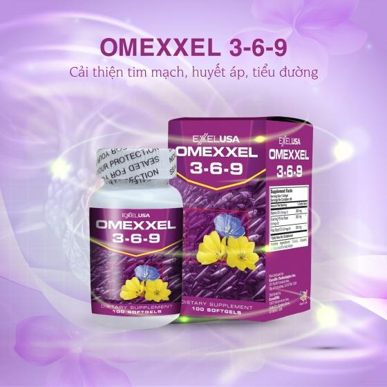 Combo 2 hộp viên uống hỗ trợ tim mạch Omexxel Cardio 60 viên- Tặng 1 lọ Omexxel 369 100 viên