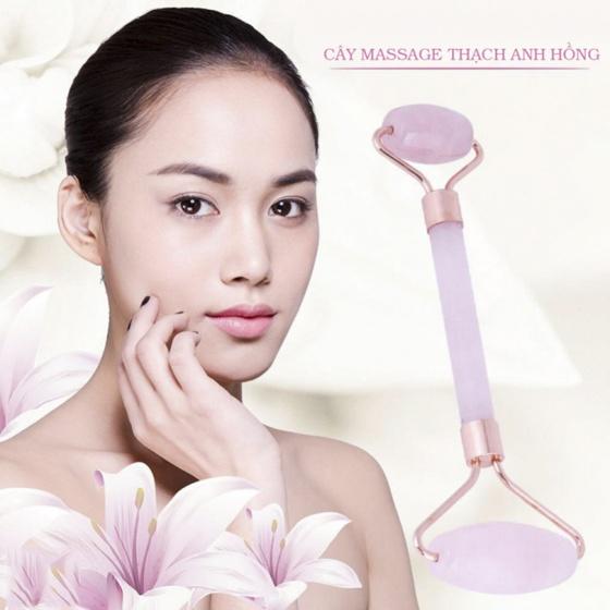Cây lăn massage thạch anh hồng - Ngọc Quý Gemstones