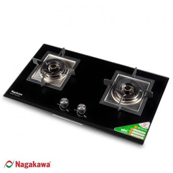 Bếp gas âm mặt kính cường lực Nagakawa NAG1751 tặng nồi áp suất 7l - hàng chính hãng - bảo hành 12 tháng