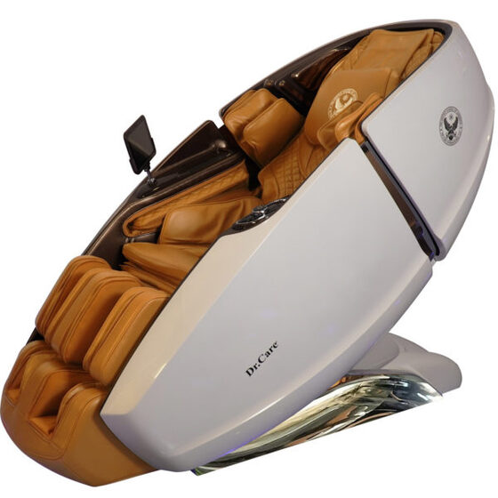 Ghế massage Phi Thuyền Vũ Trụ SS 919X – Màu trắng – Nội thất nâu vàng