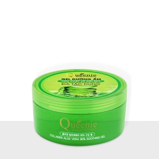 Gel dưỡng ẩm 90 phần trăm tinh chất lô hội Queenie 300ml- Mỹ Phẩm Hàn Quốc