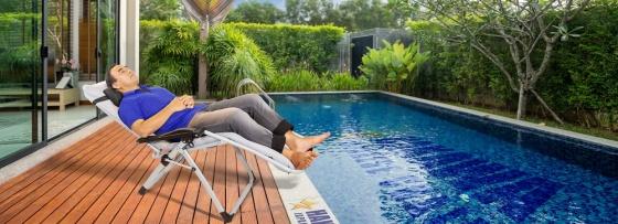 Ghế xếp thư giãn kèm nệm Kachi MK232 mang lại nhiều lợi ích sức khỏe cho bạn