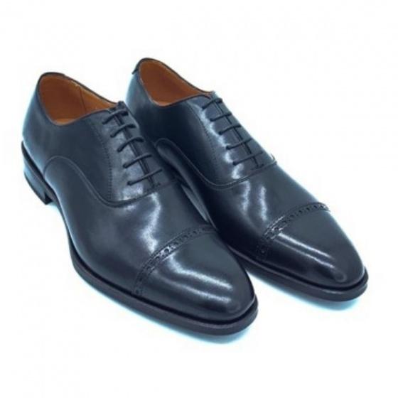 Giày đế da Pierre Cardin Wholecut Oxford PCMFWLE332BLK màu đen