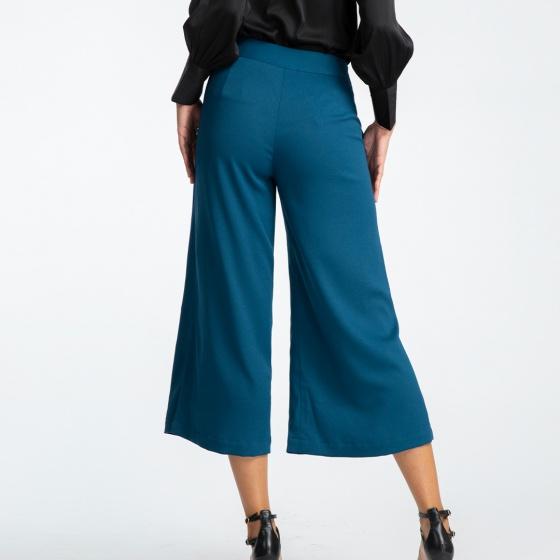 Quần ống rộng thời trang thiết kế Hity PAN044 culottes (xanh indigo)