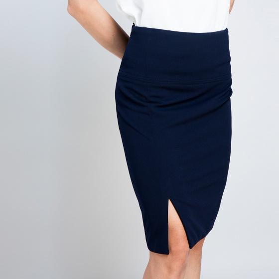 Váy bút chì thời trang thiết kế Hity SKI024 (xanh navy)