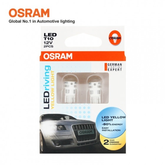 Bóng đèn led chân ghim nhỏ OSRAM STANDARD RETROFIT W5W 12v màu vàng