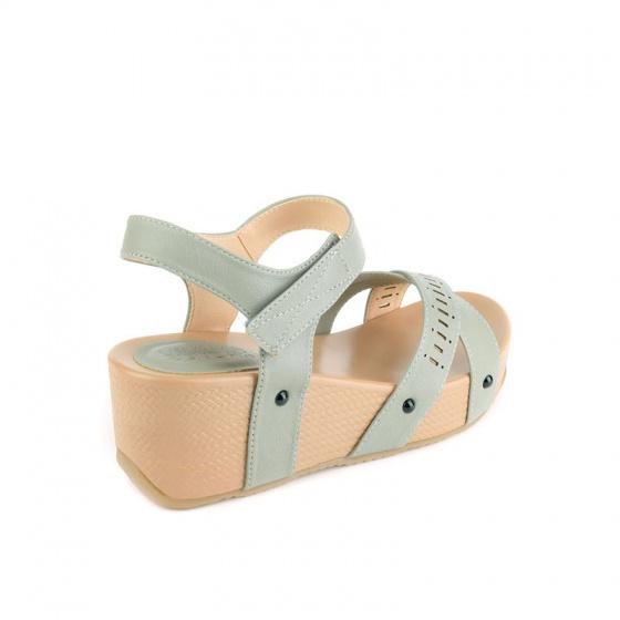 Giày sandal đế xuồng quai ngang laser quai chéo SUNDAY SD38