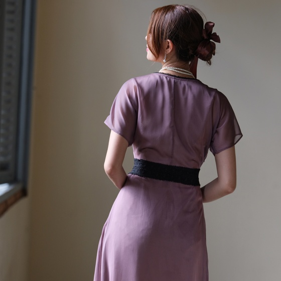 Đầm đuôi cá đầm dự tiệc cao cấp thời trang thiết kế Hity DRE120 (tím violet sương khói)