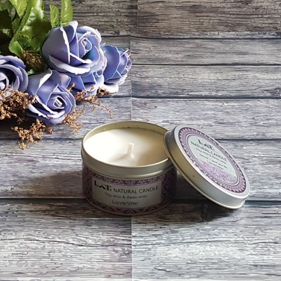 Nến thơm khử mùi ECOLIFE - Aroma Candles Lavender Tin