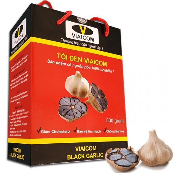 Tỏi đen Viaicom nhiều nhánh hộp 500 gram - Mua 1 tặng 1