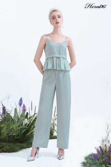 Áo kiểu 2 dây xanh mint HeraDG ST20026A