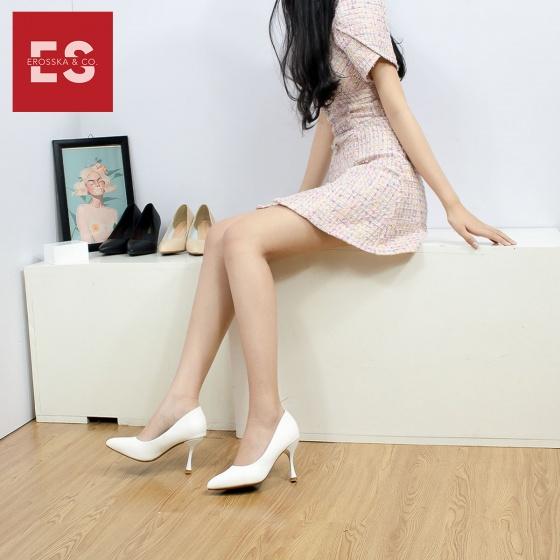 Giày cao gót Erosska thời trang mũi nhọn kiểu dáng cơ bản cao 8cm EP010