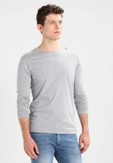 Áo thun dài tay cổ tròn chất thun cotton mềm mịn cao cấp pigofashion adt01 chọn màu