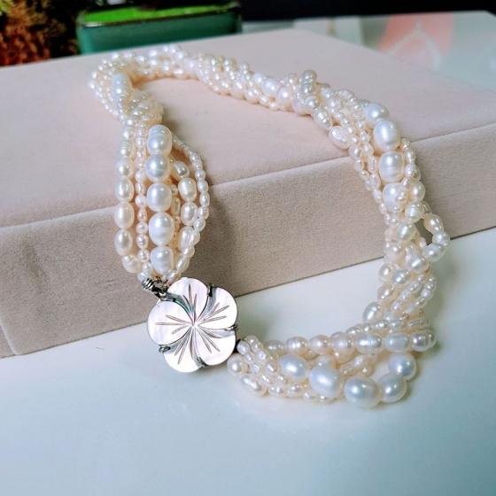 Vòng cổ Ngọc trai nước ngọt Thiên nhiên Cao cấp - Hương sắc tinh khôi - FlavorPearl (8ly) - CTJ4411