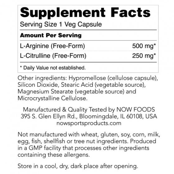 Arginine - Citrulline - Hỗ trợ duy trì các mô cơ khoẻ mạnh, xây dựng cơ bắp, Chống mệt mỏi 120 Viên