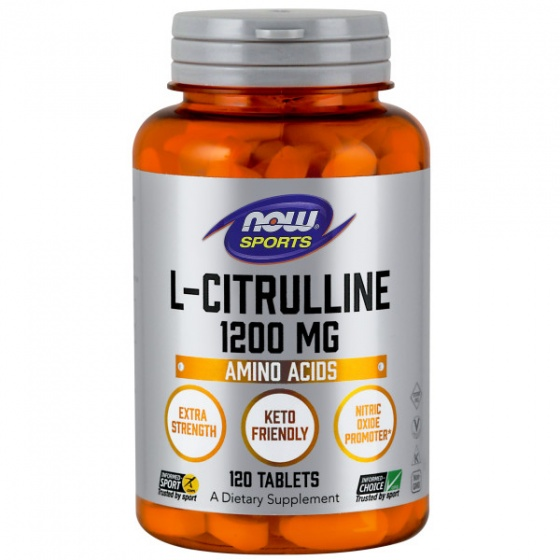 L-Citrulline, Extra Strength 1200mg - Tăng cường chuyển hóa Protein và loại bỏ Amoniac trong cơ thể (120 Viên)