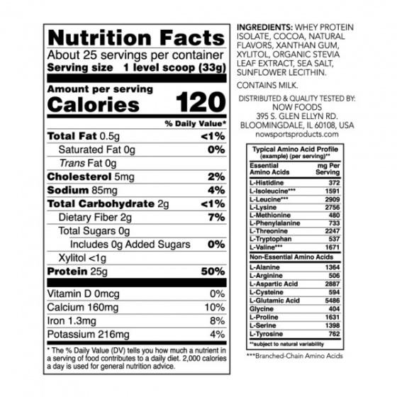 Whey Protein Isolate, Creamy Chocolate Powder - Tăng khả năng hấp thụ, dễ tiêu hóa cho người luyện tập Vị Sô-cô-la - 816 gram