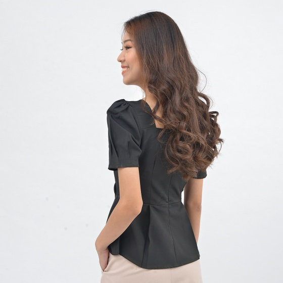 Áo kiểu nữ thời trang Eden cổ vuông - ASM137