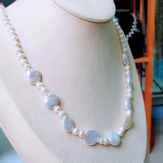 Vòng cổ Ngọc trai Tự nhiên Cao cấp - Chuỗi đơn Trường Cửu - BaliPearl (5-13ly) - CTJ3811