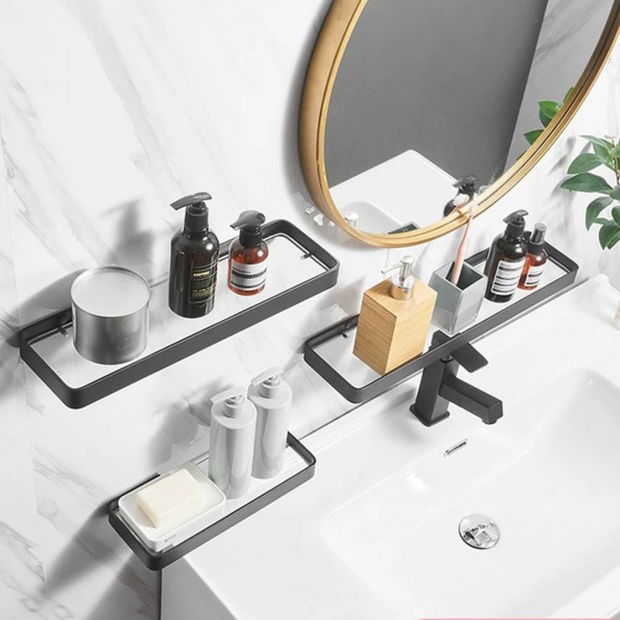 Kệ nhà tắm phong cách bắc âu hiện đại inox 304 sơn tĩnh điện hàng cao cấp
