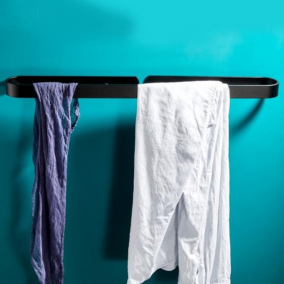 Giá treo khăn đa năng dán tường cao cấp inox 304 sơn tĩnh điện chống ghỉ