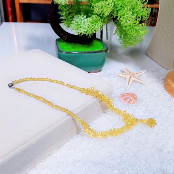 Vòng cổ Ngọc trai tự nhiên Cao cấp hạt lệch Mix phale - CrystalPearl (6-7ly) - CTJ0110