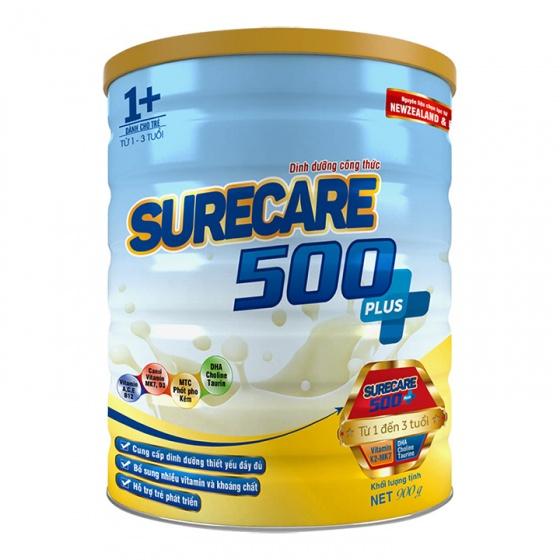 Sữa Surecare 500 plus 1+ 900g (1-3 tuổi)