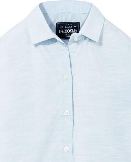 Áo sơ mi nam The Cosmo JAMES SHIRT màu xanh TC1022098BL