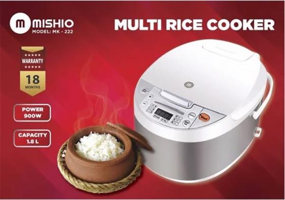 Nồi cơm điện tử lòng niêu Mishio MK222 (Màu trắng)