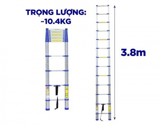 Thang nhôm rút gọn Kachi MK237 3.8M