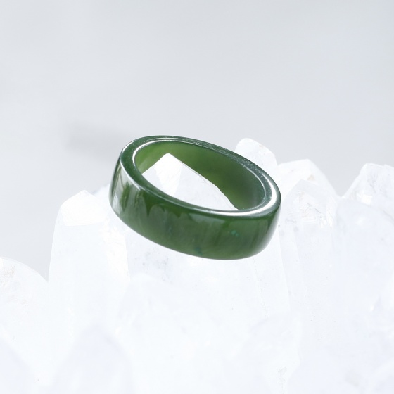 Nhẫn đá ngọc bích mệnh hỏa, mộc - Ngọc Quý Gemstones
