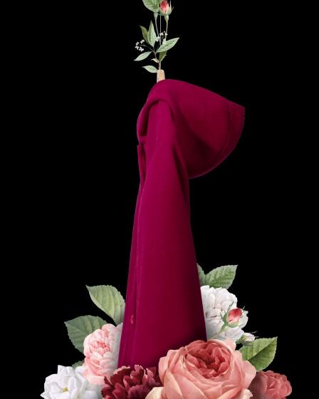 Áo khoác nữ The Cosmo ANGELINA PONCHO màu đỏ TC2004040BU