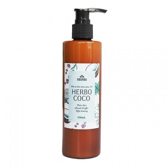Dầu xả thảo dược phục hồi Naunau Herbo Coco 250ml