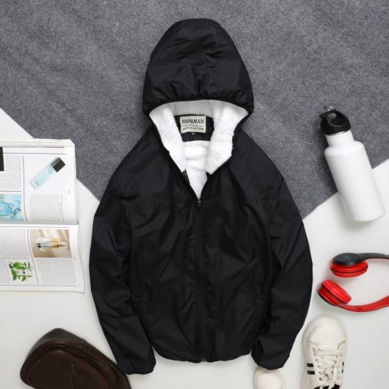Áo khoác dù nam chống nước lót lông cao cấp pigo fashion Adll01 chọn màu