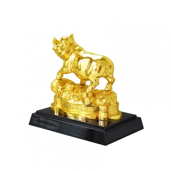 Tượng Heo phong thuỷ mạ vàng size lớn