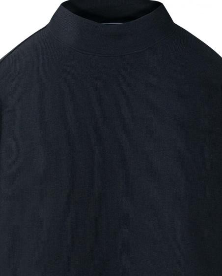 Áo thun nam The Cosmo STEVE MOCK NECK TEE màu đen TC1021081BA