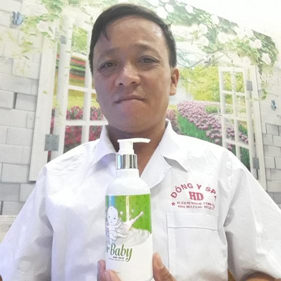 Nước tắm thảo dược Dr Baby 250ml cho trẻ từ 0 đến 3 tuổi hết rôm sảy, mẩn ngứa, viêm da