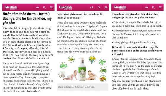 Combo 3 nước tắm thảo dược Dr Baby 250ml cho trẻ từ 0 đến 3 tuổi hết rôm sảy, mẩn ngứa, viêm da