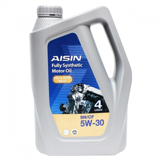 Nhớt động cơ AISIN ESEN0534P 5W-30 SN  CF PAO  ESTER Blend 4L