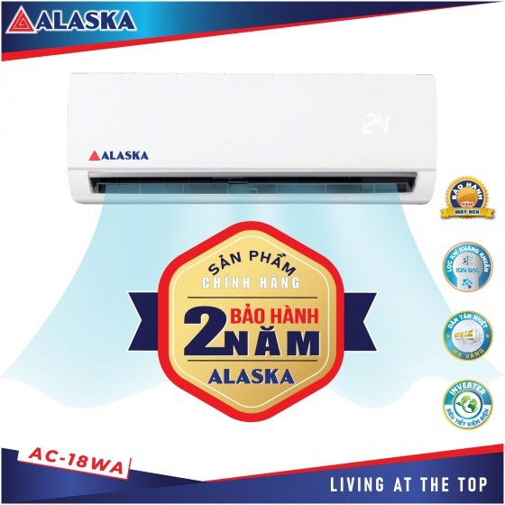 Máy lạnh Alaska tiêu chuẩn AC-18WA 2HP (18000BTU)