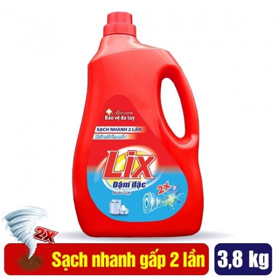 Nước giặt Lix hương nước hoa 3.8Kg - Tẩy sạch cực mạnh vết bẩn - NGH01