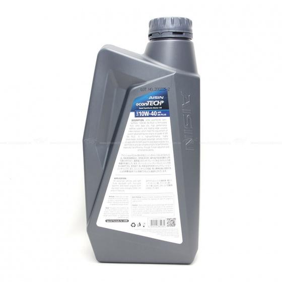 Nhớt động cơ AISIN ESSN1041P 10W-40 SN PLUS econTECH+ Semi Synthetic 1L