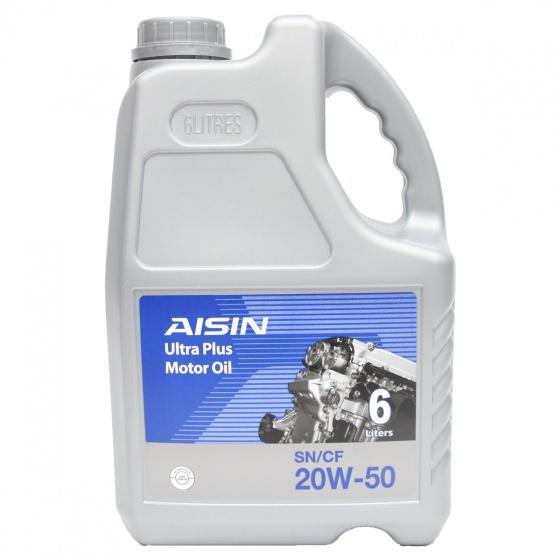 Nhớt động cơ AISIN ESSN2056P 20W-50 SN  CF Semi Synthetic 6L